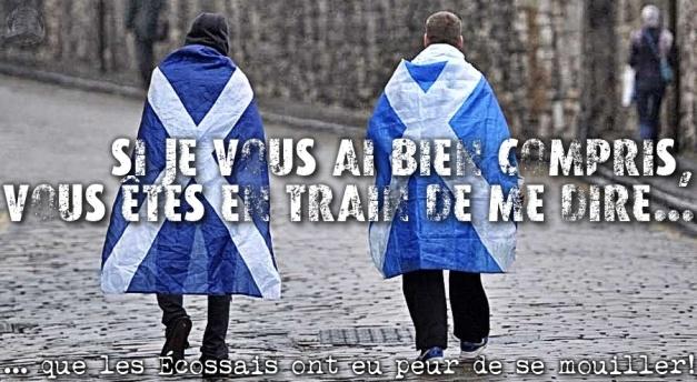 les Écossais ont eu peur de se mouiller